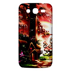 Fantasy Art Story Lodge Girl Rabbits Flowers Samsung Galaxy Mega 5 8 I9152 Hardshell Case  by BangZart