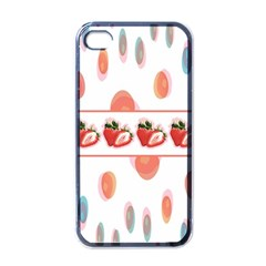 Strawberries Apple Iphone 4 Case (black) by SuperPatterns