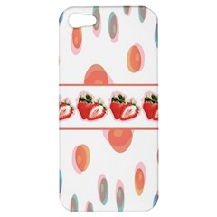 Strawberries Apple Iphone 5 Hardshell Case by SuperPatterns