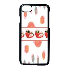 Strawberries Apple Iphone 7 Seamless Case (black) by SuperPatterns
