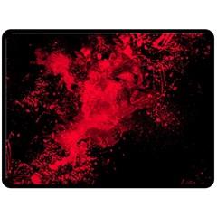 Red Smoke Fleece Blanket (large)  by berwies