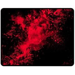 Red Smoke Double Sided Fleece Blanket (medium)  by berwies