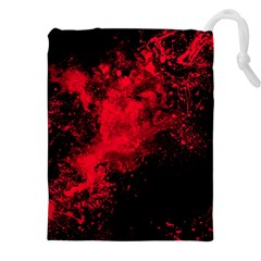 Red Smoke Drawstring Pouches (xxl) by berwies