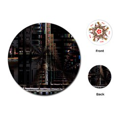 Blacktechnology Circuit Board Electronic Computer Playing Cards (round)  by BangZart