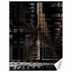 Blacktechnology Circuit Board Electronic Computer Canvas 18  X 24   by BangZart