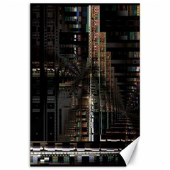 Blacktechnology Circuit Board Electronic Computer Canvas 24  X 36