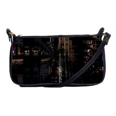 Blacktechnology Circuit Board Electronic Computer Shoulder Clutch Bags by BangZart