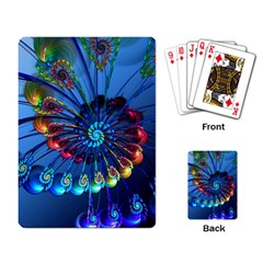 Top Peacock Feathers Playing Card by BangZart