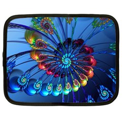 Top Peacock Feathers Netbook Case (xl)  by BangZart