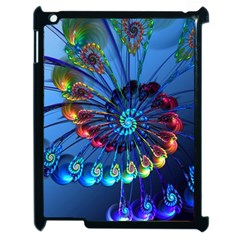 Top Peacock Feathers Apple Ipad 2 Case (black) by BangZart