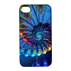 Top Peacock Feathers Apple Iphone 4/4s Hardshell Case With Stand by BangZart