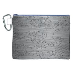 Embossed Rose Pattern Canvas Cosmetic Bag (xxl) by BangZart