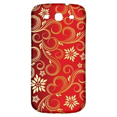 Golden Swirls Floral Pattern Samsung Galaxy S3 S Iii Classic Hardshell Back Case by BangZart
