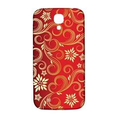 Golden Swirls Floral Pattern Samsung Galaxy S4 I9500/i9505  Hardshell Back Case by BangZart