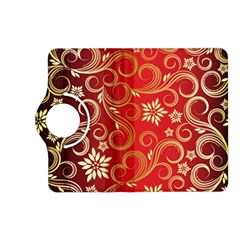 Golden Swirls Floral Pattern Kindle Fire Hd (2013) Flip 360 Case by BangZart