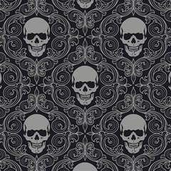 Dark Horror Skulls Pattern Magic Photo Cubes by BangZart