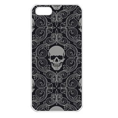 Dark Horror Skulls Pattern Apple Iphone 5 Seamless Case (white) by BangZart