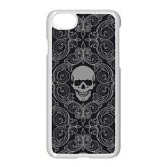 Dark Horror Skulls Pattern Apple Iphone 7 Seamless Case (white) by BangZart
