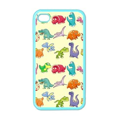Group Of Funny Dinosaurs Graphic Apple Iphone 4 Case (color) by BangZart