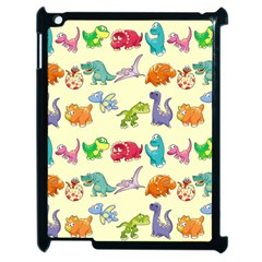 Group Of Funny Dinosaurs Graphic Apple Ipad 2 Case (black) by BangZart