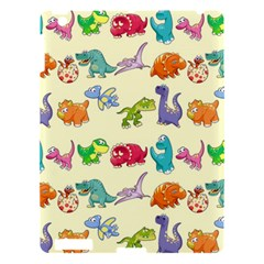 Group Of Funny Dinosaurs Graphic Apple Ipad 3/4 Hardshell Case by BangZart