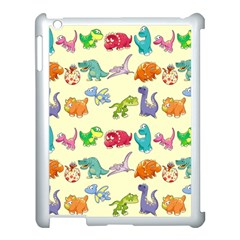 Group Of Funny Dinosaurs Graphic Apple Ipad 3/4 Case (white) by BangZart