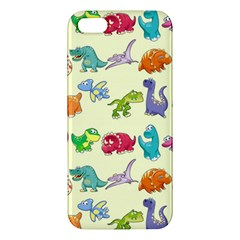 Group Of Funny Dinosaurs Graphic Apple Iphone 5 Premium Hardshell Case by BangZart