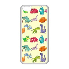 Group Of Funny Dinosaurs Graphic Apple Iphone 5c Seamless Case (white) by BangZart