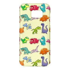 Group Of Funny Dinosaurs Graphic Samsung Galaxy S7 Edge Hardshell Case by BangZart