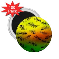 Insect Pattern 2 25  Magnets (100 Pack)  by BangZart