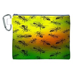 Insect Pattern Canvas Cosmetic Bag (xxl) by BangZart