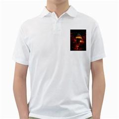 Dragon Legend Art Fire Digital Fantasy Golf Shirts by BangZart