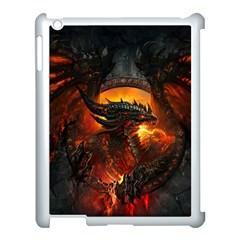 Dragon Legend Art Fire Digital Fantasy Apple Ipad 3/4 Case (white) by BangZart