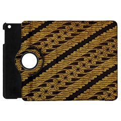 Traditional Art Indonesian Batik Apple Ipad Mini Flip 360 Case by BangZart