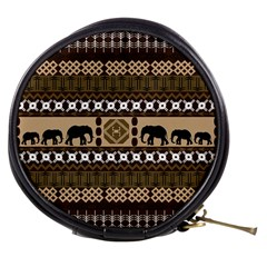 Elephant African Vector Pattern Mini Makeup Bags by BangZart