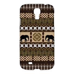 Elephant African Vector Pattern Samsung Galaxy S4 I9500/i9505 Hardshell Case by BangZart