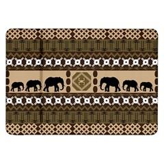 Elephant African Vector Pattern Samsung Galaxy Tab 8 9  P7300 Flip Case by BangZart