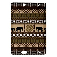 Elephant African Vector Pattern Amazon Kindle Fire Hd (2013) Hardshell Case by BangZart