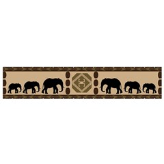 Elephant African Vector Pattern Flano Scarf (small) by BangZart