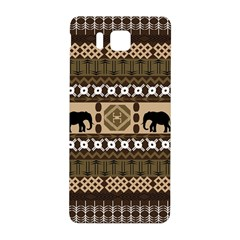 Elephant African Vector Pattern Samsung Galaxy Alpha Hardshell Back Case by BangZart