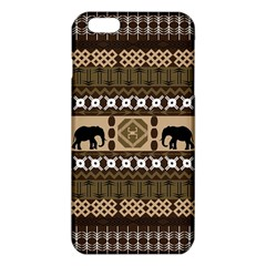 Elephant African Vector Pattern Iphone 6 Plus/6s Plus Tpu Case by BangZart