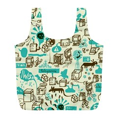 Telegramme Full Print Recycle Bags (l)  by BangZart