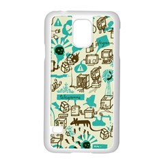 Telegramme Samsung Galaxy S5 Case (white) by BangZart