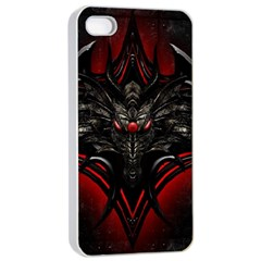 Black Dragon Grunge Apple Iphone 4/4s Seamless Case (white) by BangZart