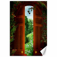 Beautiful World Entry Door Fantasy Canvas 20  X 30   by BangZart
