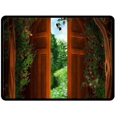 Beautiful World Entry Door Fantasy Double Sided Fleece Blanket (large)  by BangZart