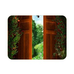 Beautiful World Entry Door Fantasy Double Sided Flano Blanket (mini)  by BangZart