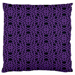 Triangle Knot Purple And Black Fabric Standard Flano Cushion Case (two Sides) by BangZart
