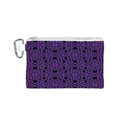 Triangle Knot Purple And Black Fabric Canvas Cosmetic Bag (s)