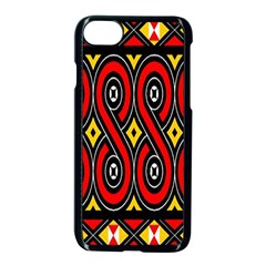 Toraja Traditional Art Pattern Apple Iphone 7 Seamless Case (black) by BangZart